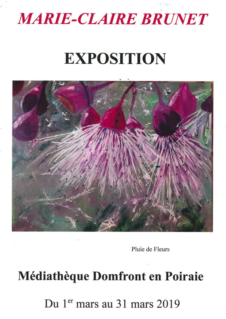Exposition Marie-Claire Brunet 2019