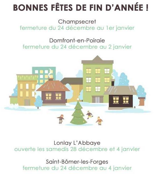 Fermeture Noël 2019