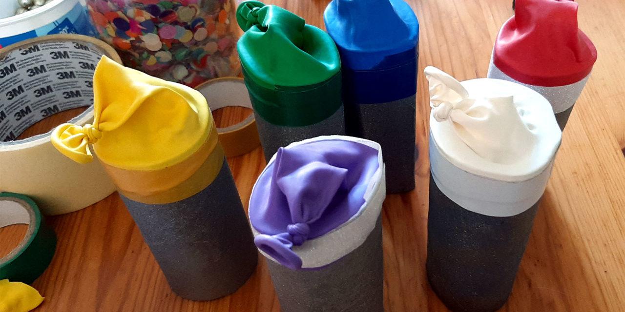 Atelier à la maison : Canon à confettis
